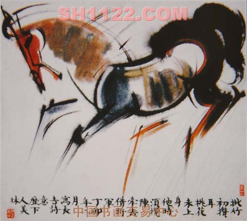 """韩美林的""""马"""";; 《少年行》(1); 韩美林动物画"""