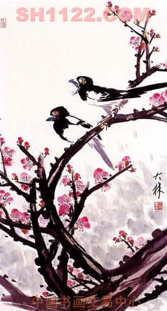 花鸟名家 张大林 - 《红梅双喜》图片