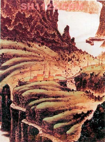 吉林天池绘画作品