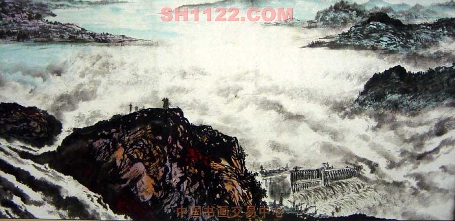 名家 姜春晓 山水 - 三峡长卷局部图片
