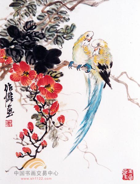 凌霄花与双鸟