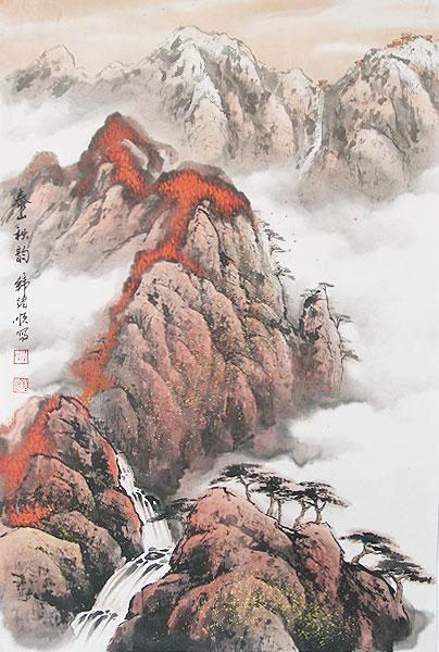 山水画32-泰山之秋