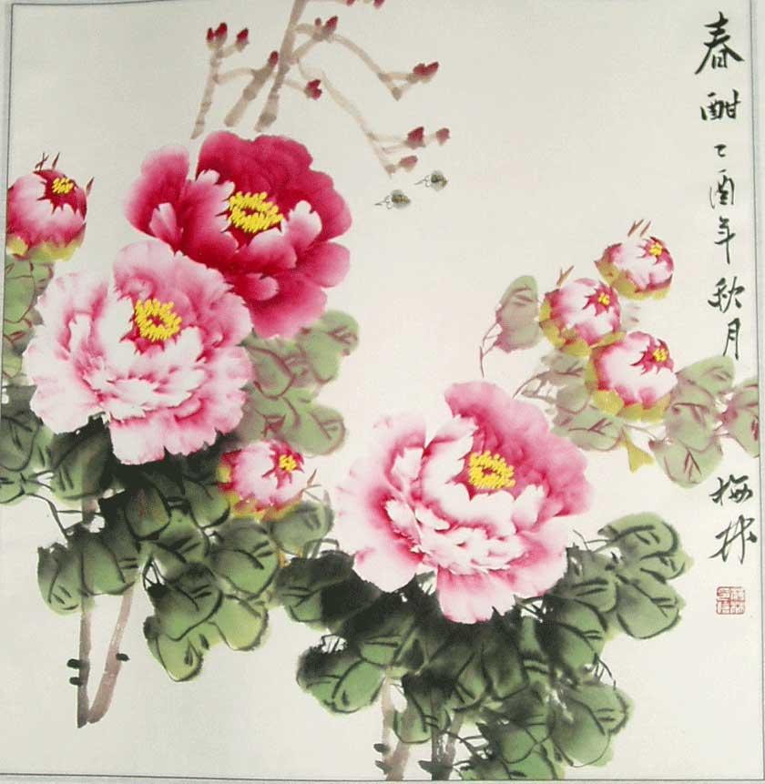写意牡丹-中国书画服务中心