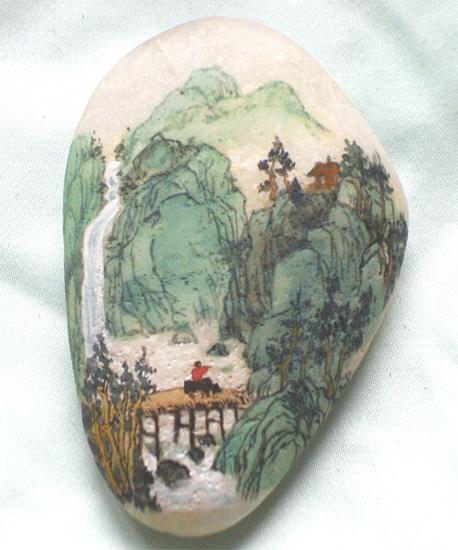 在鹅卵石上画画的作文