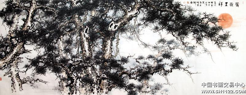 名家写意松树作品
