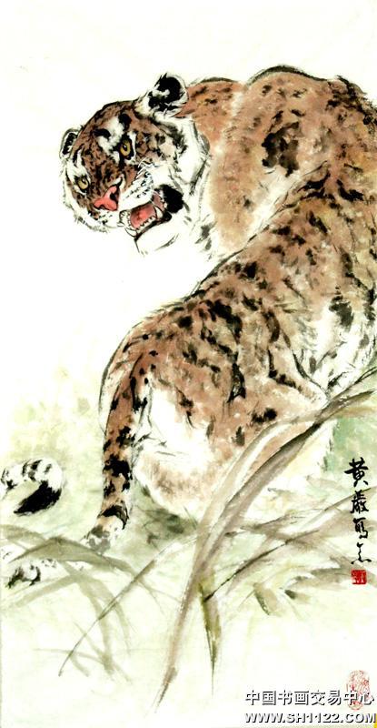 豹 豹子 壁纸 动物 国画 桌面 415_800 竖版 竖屏 手机