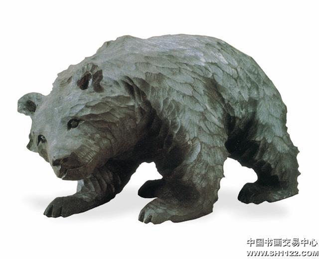 木雕熊-经典艺术赏析-中国书画交易中心,中国书画销售