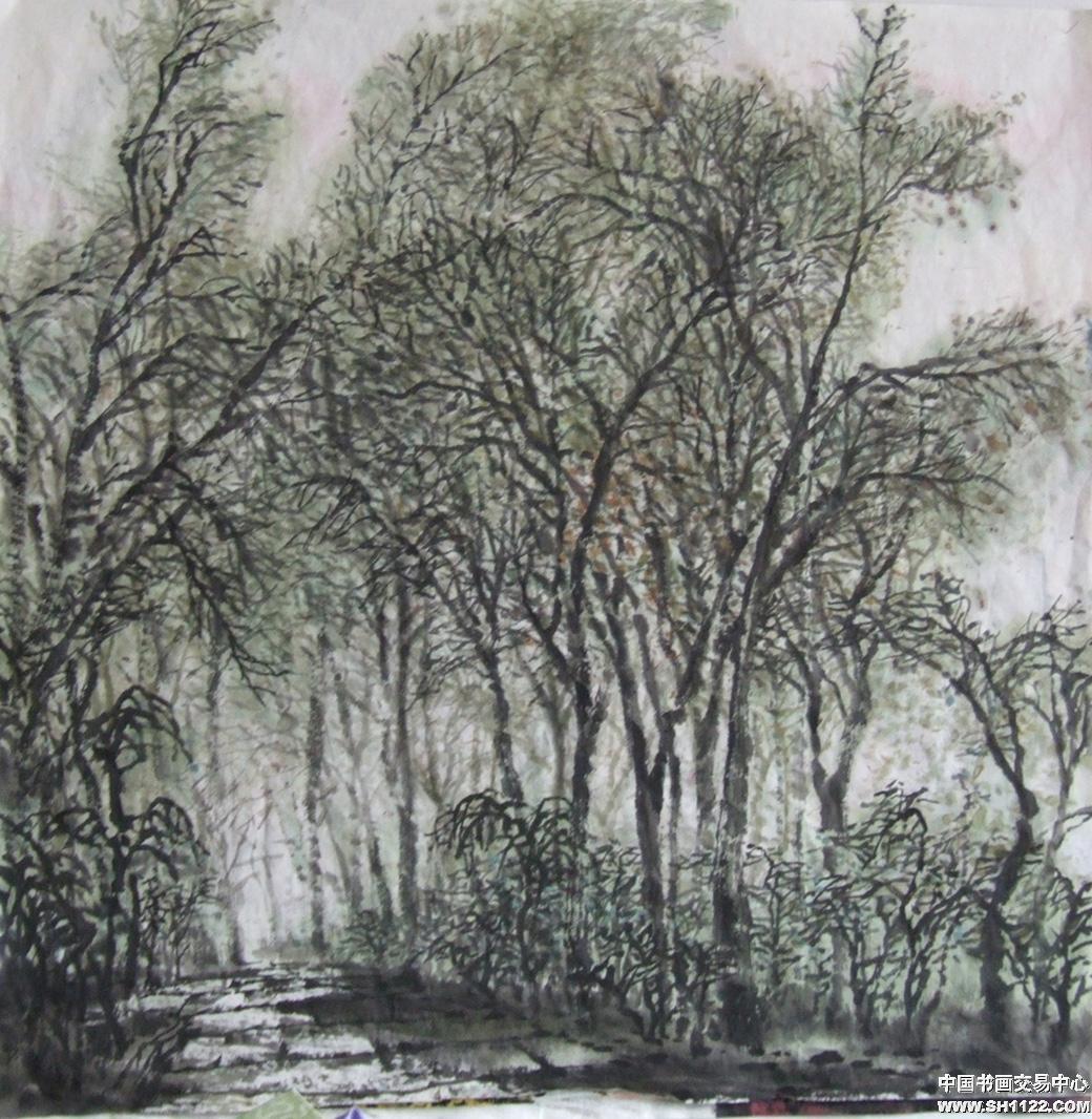 手绘春树简单画法