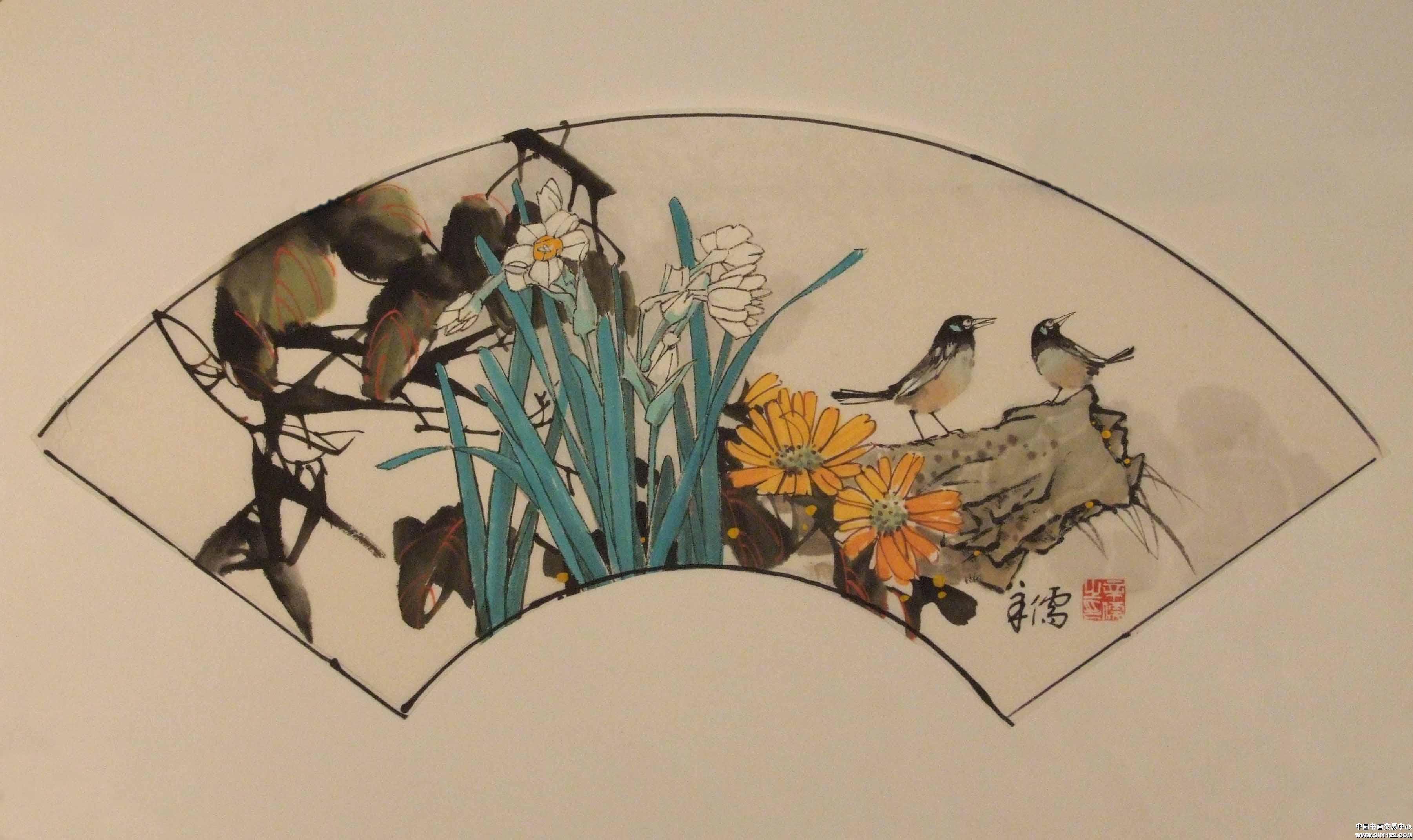 作品名称 《花鸟小品(7)》 收藏序号 jdys200703308133-84712 作者