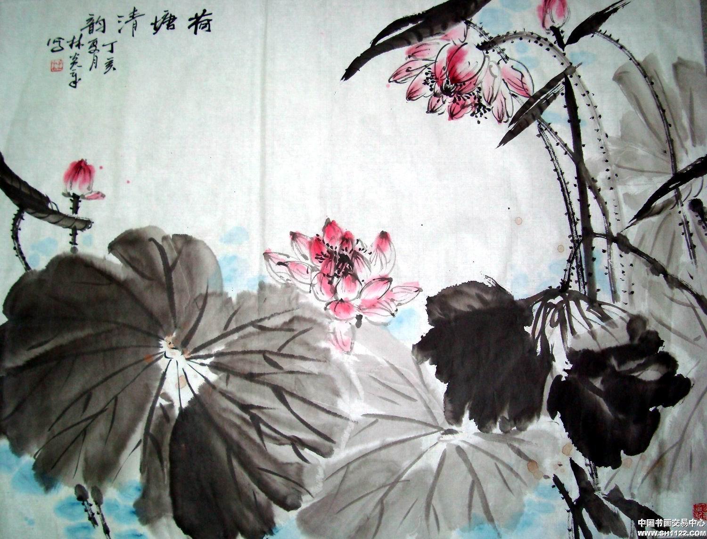 林炎章-水墨清荷-淘宝-名人字画-中国书画交易中心
