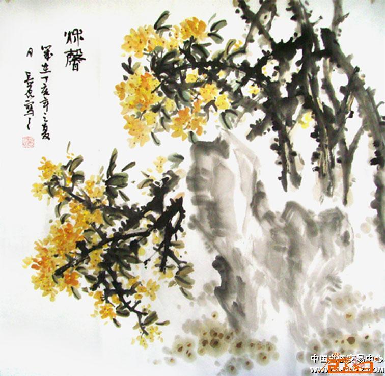 穆长磊-桂花(已出售)-淘宝-名人字画-中国书画交易