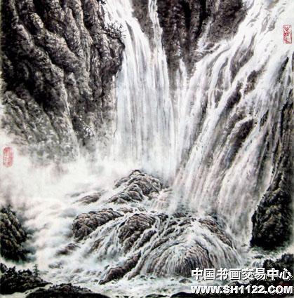 千岩万壑不辞劳(局部)-昌国庆-淘宝-名人字画-中