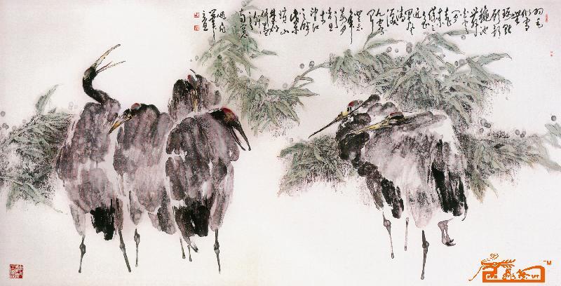 在水一方-王鹏飞-淘宝-名人字画-中国书画交易中心图片