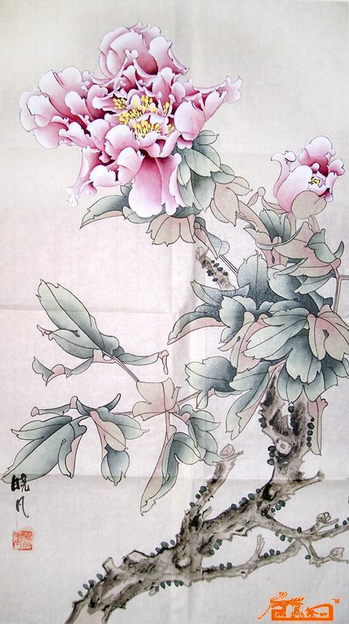 花中之王 工笔画牡丹