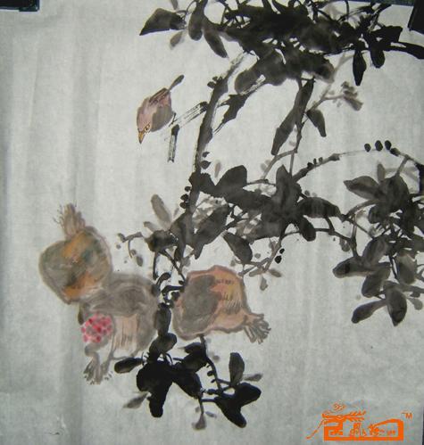 王路平-石榴-淘宝-名人字画-中国书画交易中心