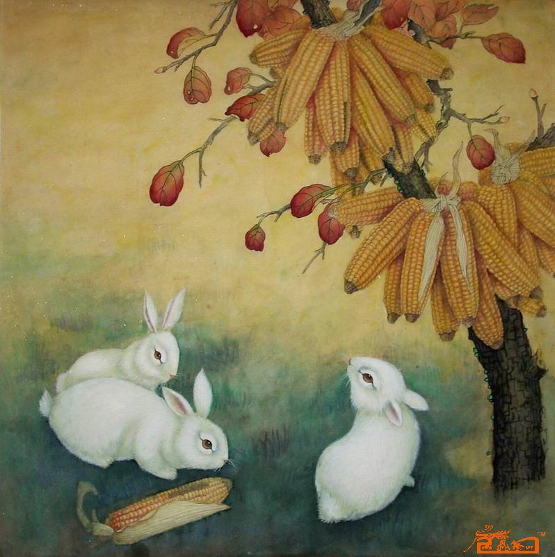 美术兔子作品大全步骤