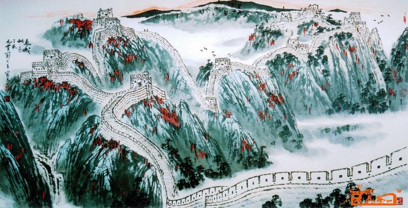李宏志-长城秋色-淘宝-名人字画-中国书画交易中心