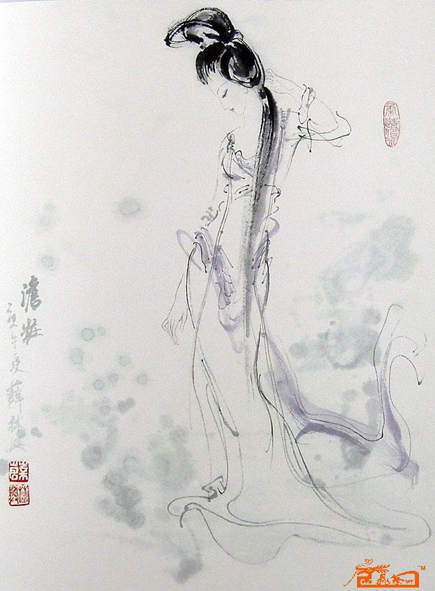 薛林兴.中国仕女画--中国当代国画家 - 书画艺术投资 - 名人书画艺术博客(筹建)