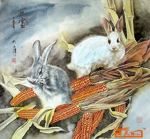 兔子-吹雪-淘宝-名人字画-中国书画交易中心