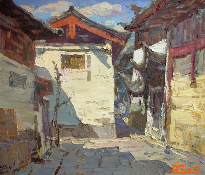丽江手绘油画创作