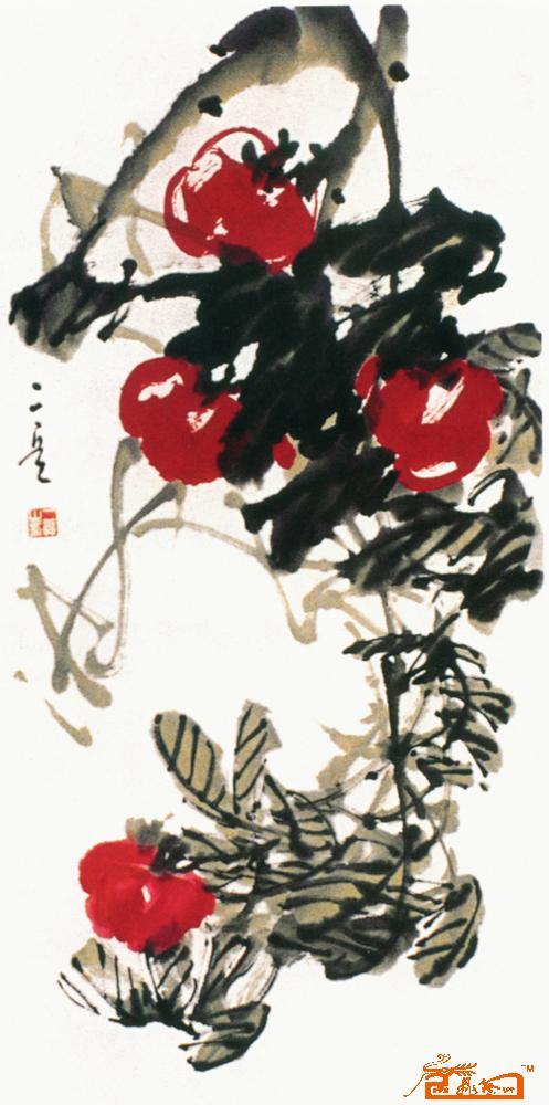 丁二兵-西红柿-淘宝-名人字画-中国书画交易中心,中国