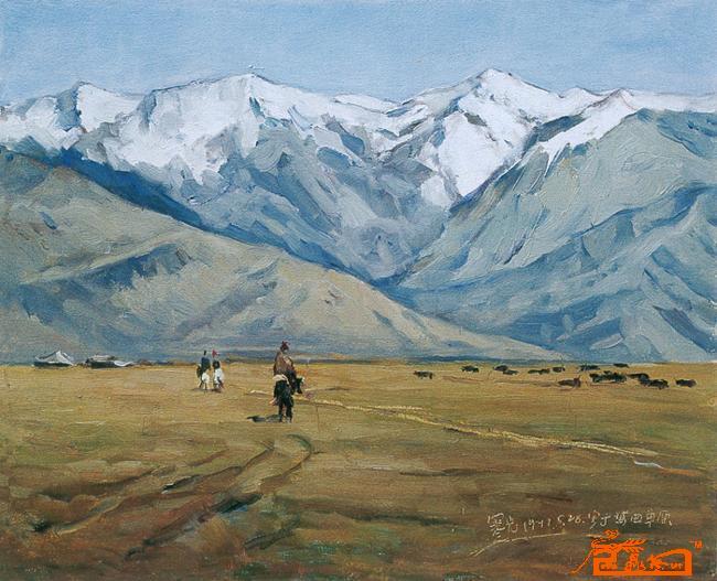 玛曲冬天的风景