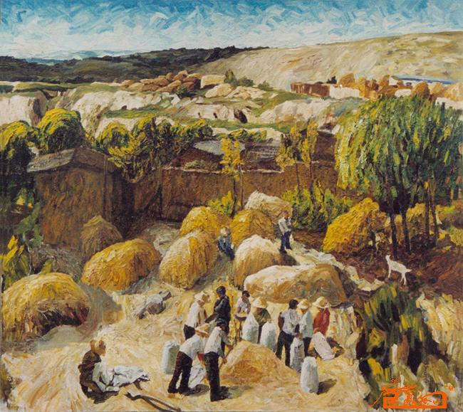 油画名家 曾运东 - 黄土高坡