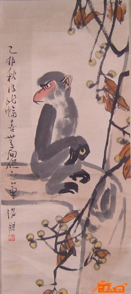 国画可爱猴子作品欣赏