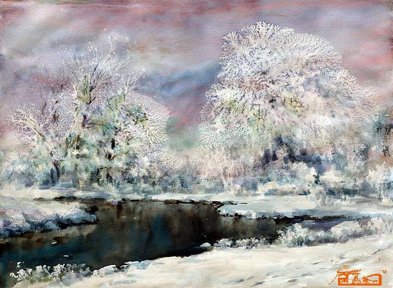 天津水粉建筑风景画