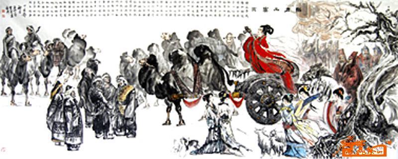重大历史题材组画之二:昭君出塞图-王作宝-淘宝