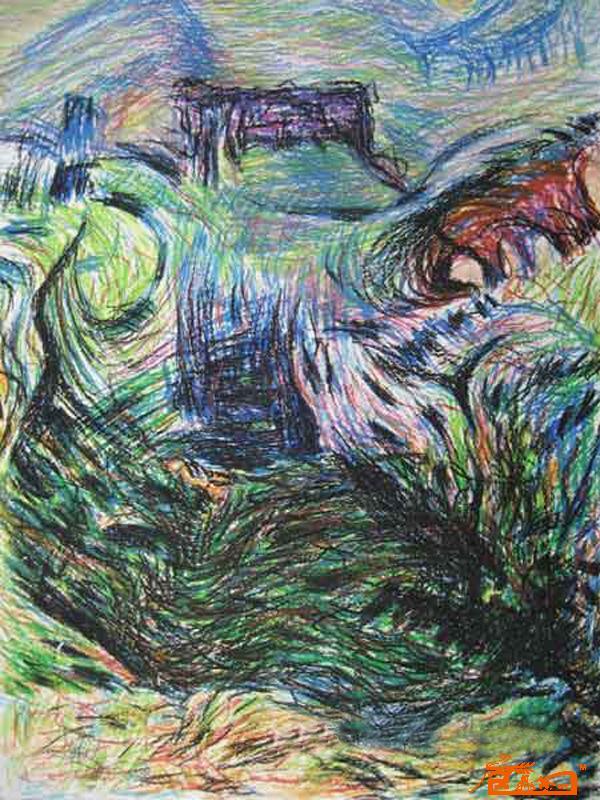 简介:  李利峰出生于1955年,安徽明光市人.15岁开始习画至今已有37年,其作品主要基于表现主义手法在学习众多艺术的同时侧重把印象派,达达主义,精神写实主义和儿童画无形的融会与作品之中,形成了自己的本性艺术.目前已有现成作品一百多幅. 这些年来,他潜心艺术的学习和研究,从未与世人露面,