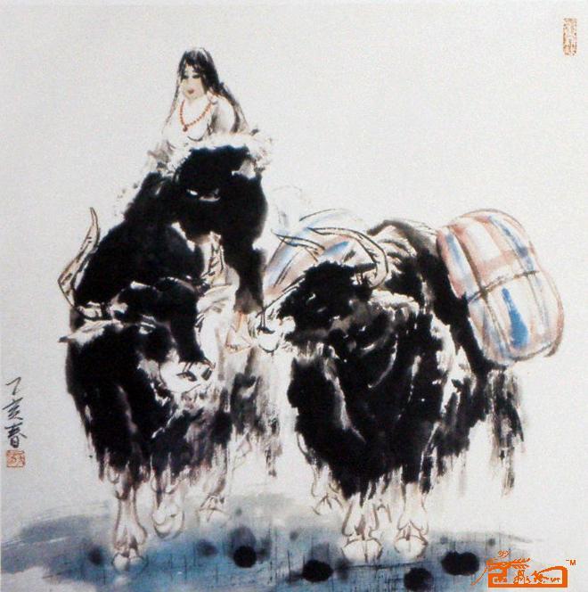 名家 吴浩 花鸟 - 藏族人物小品1