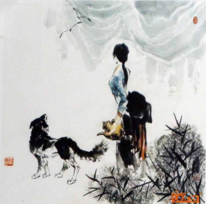 名家 吴浩 花鸟 - 藏族人物小品3 当前 位粉丝喜爱本幅作品