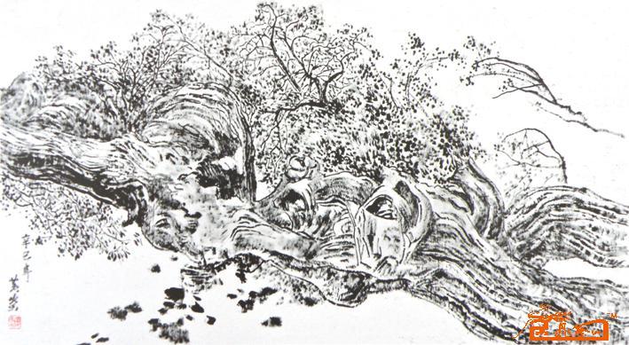 名家 黄国强 国画 - 千年胡杨 当前 位粉丝喜爱本幅作品