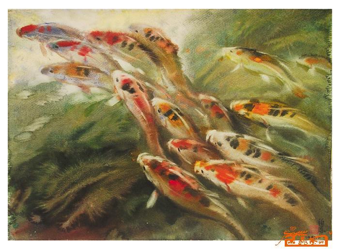 水彩(鱼)8-胡钜湛-淘宝-名人字画-中国书画交易中心