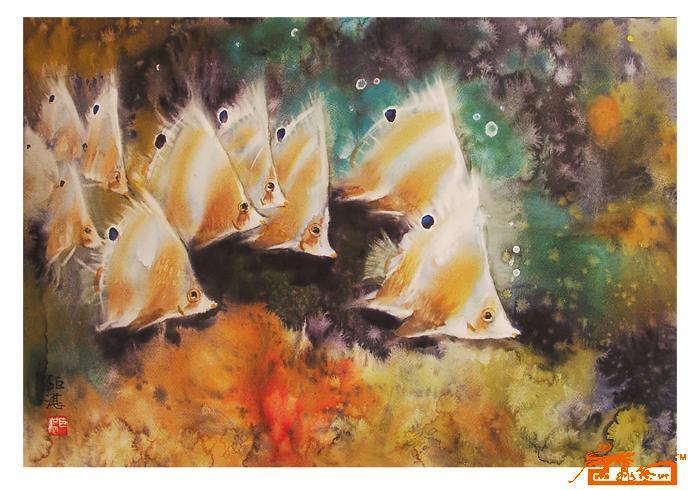 水彩(鱼)26-胡钜湛-淘宝-名人字画-中国书画交易中心