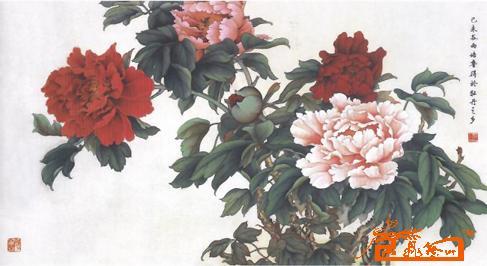 工笔牡丹-崔培鲁-淘宝-名人字画-中国书画交易中心