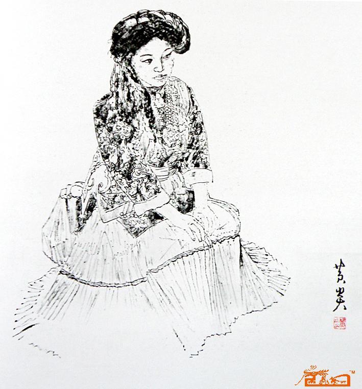 手绘韩系姑娘 壁纸