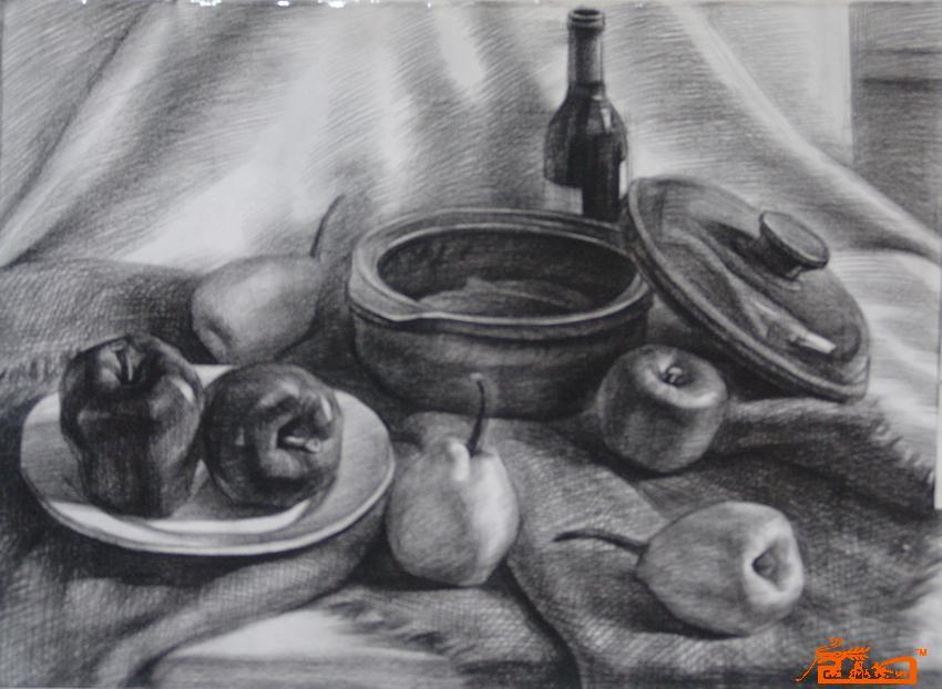 素描05静物-朱华赛-淘宝-名人字画-中国书画交易中心