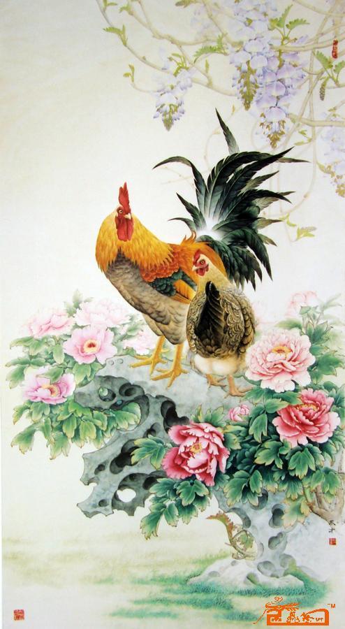 富贵大吉186cm*95cm-王永才-淘宝-名人字画-中国书画