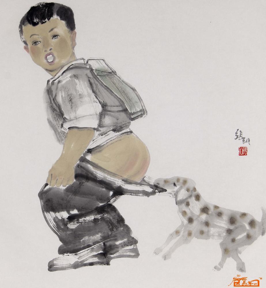国画名家 张弘 - 童趣图片