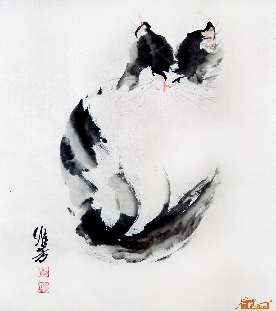 猫咪48-刘维芳-淘宝-名人字画-中国书画交易中心