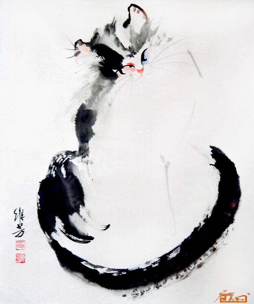 刘维芳-猫咪49-淘宝-名人字画-中国书画交易中心