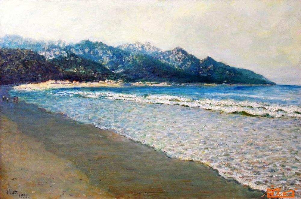 青岛崂山油画风景