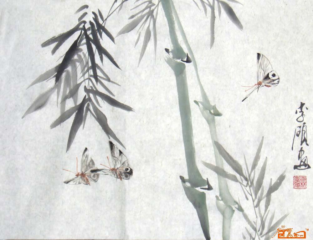蝴蝶-李硕-淘宝-名人字画-中国书画交易中心