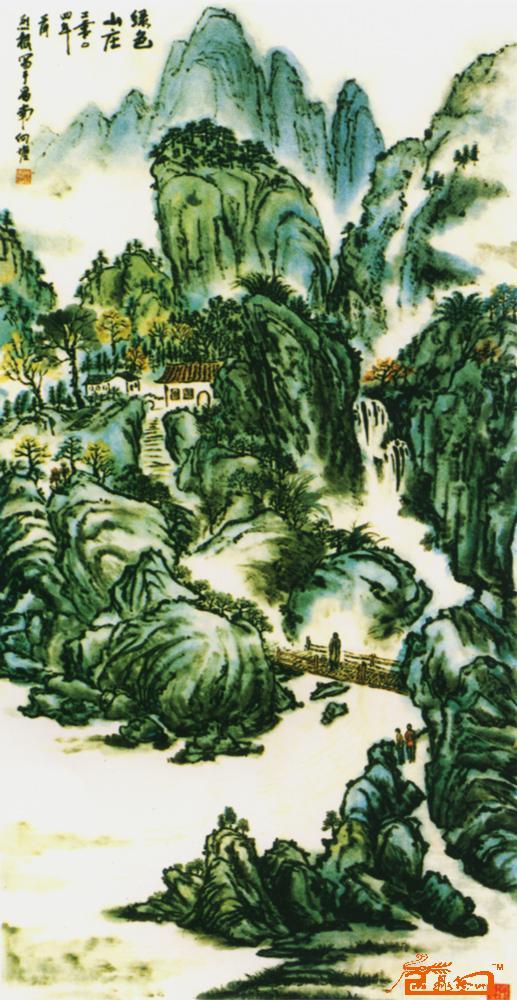 绿色山庄-邓烈根-淘宝-名人字画-中国书画交易中心