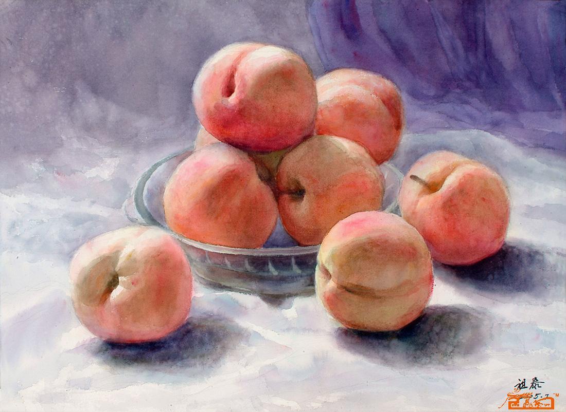 水果静物水彩步骤图