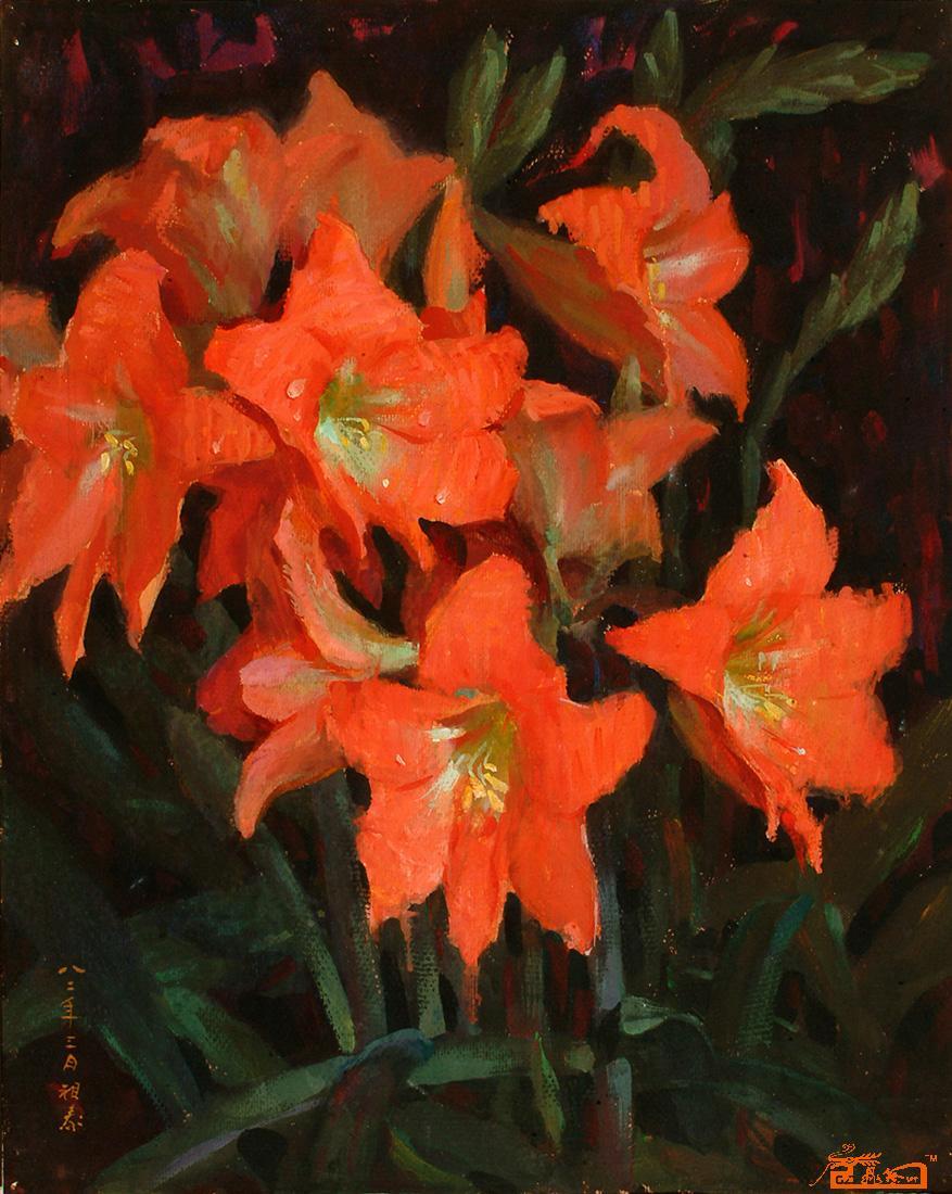 水粉植物画