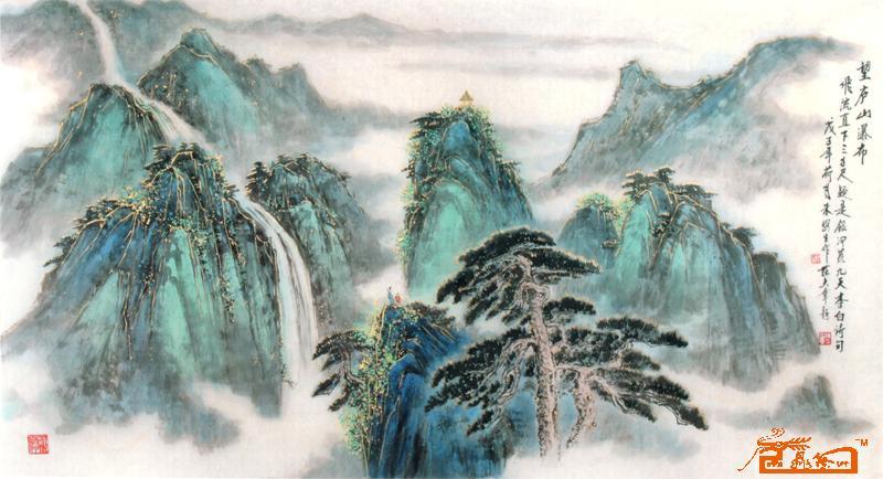 望庐山瀑布图片