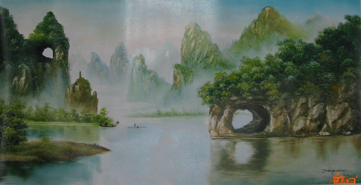 张顺义美术作品aaalb0010桂林山水中国书画服务中心